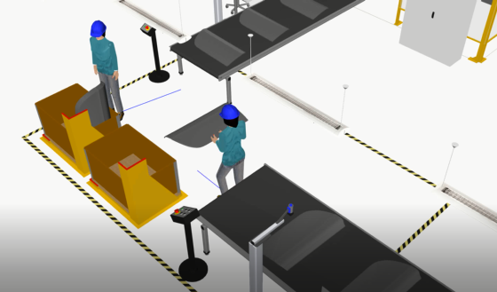 Simulation people working